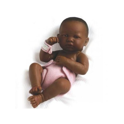 All-vinyl newborn doll in diaper. african american. real girl!  Berenguer    546678